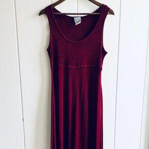 Vintage Liquid Maxi Dress Sleeveless Empire Waist